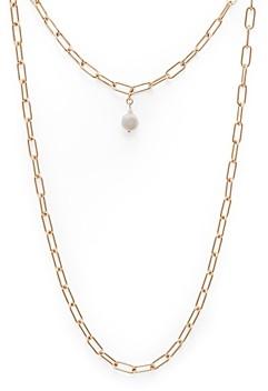 Aqua Two-Strand Imitation Pearl Pendant Necklace, 21 - 100% Exclusive