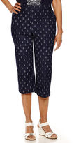 Alfred Dunner All Aboard Anchor-Print Capri Pants