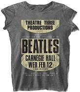 Rockoff Trade The Beatles Women's Carnegie Hall Burnout T-Shirt