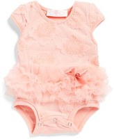 Infant Girl's Popatu Flower Tutu Bodysuit