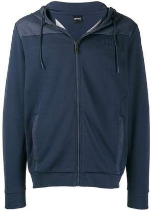 HUGO BOSS embroidered logo hoodie