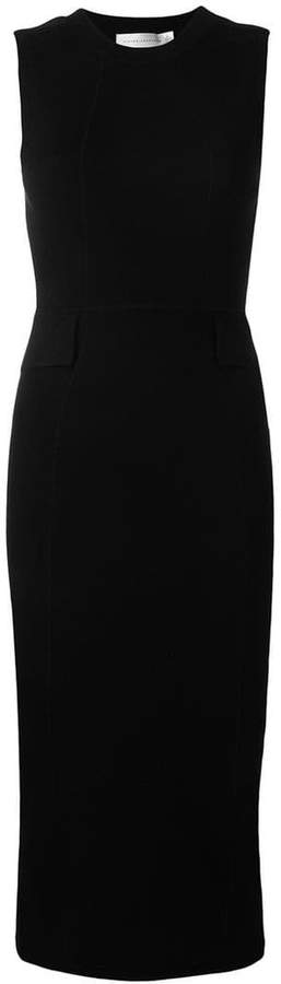 Victoria Beckham sleeveless fitted midi dress