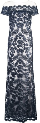 Tadashi Shoji Lace Structures Gown