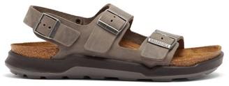 Birkenstock Milano Ankle-strap Leather Sandals - Grey
