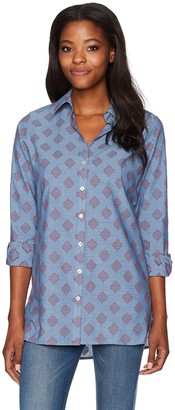 Foxcroft Women's Jade Diamond Clip Dot Tunic