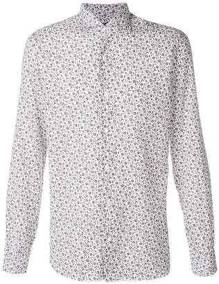 Barba floral-print point-collar shirt