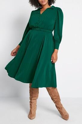 ModCloth Classy Announcement Midi Dress