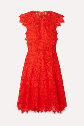 Lela Rose Corded Lace Dress - Red