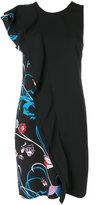 Emilio Pucci sleeveless ruffle trim dress - women - Silk/Polyester - 42
