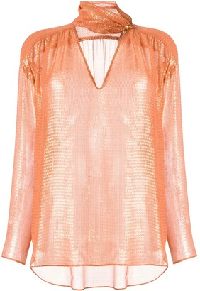 Ginger & Smart Bourgeois metallized blouse