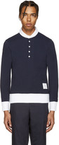 Thom Browne Navy Long Sleeve Polo