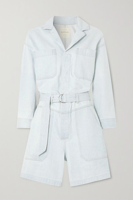 Citizens of Humanity + Space For Giants Lucia Belted Organic Denim Playsuit - Blue
