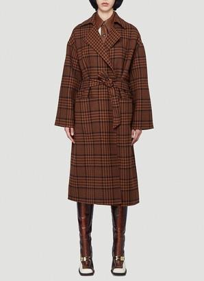 Nanushka Alamo Checked Oversized Coat