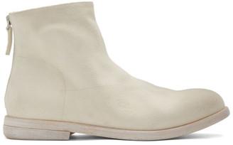 Marsèll White Suede Listolo Boots