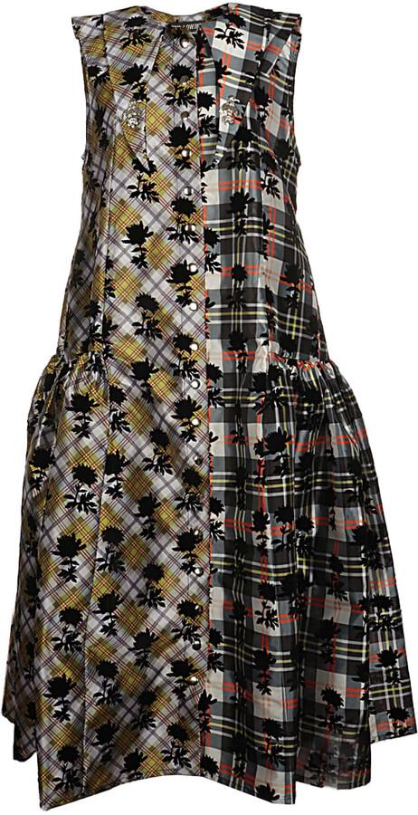 Thumbnail for your product : Chopova Lowena Flocked Taffeta Dress