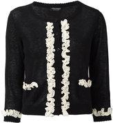 Twin-Set frill detail cardigan - women - Cotton/Linen/Flax - S
