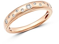 Bloomingdale's Diamond Burnished Band in 14K Rose Gold, 0.20 ct. t.w. - 100% Exclusive