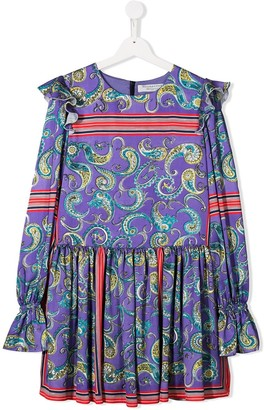 Philosophy di Lorenzo Serafini Kids TEEN paisley print flared dress