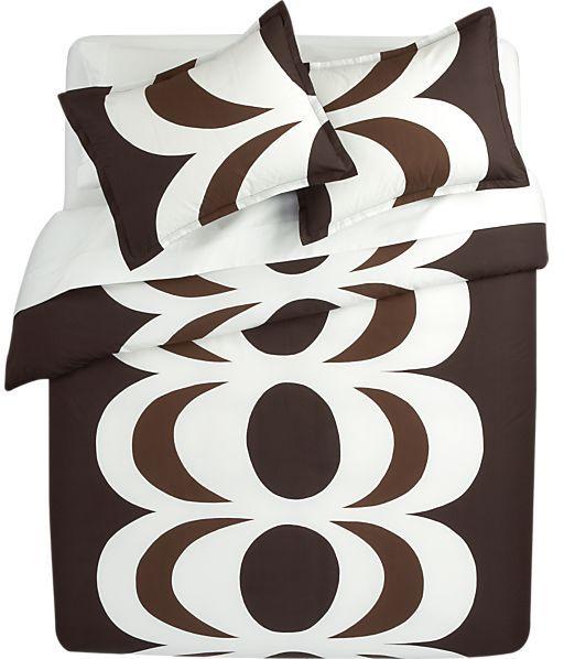 Marimekko Kaivo Chocolate Bed Linens