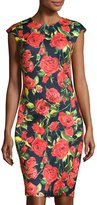 Neiman Marcus Floral-Print Sheath Dress, Multi