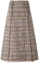 Diane von Furstenberg tweed A-line skirt - women - Cotton/Linen/Flax/Acrylic/Spandex/Elastane - 6