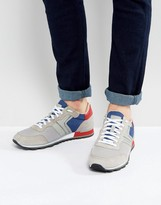 BOSS GREEN by Hugo Boss Suede and Leather Sneakers Gray