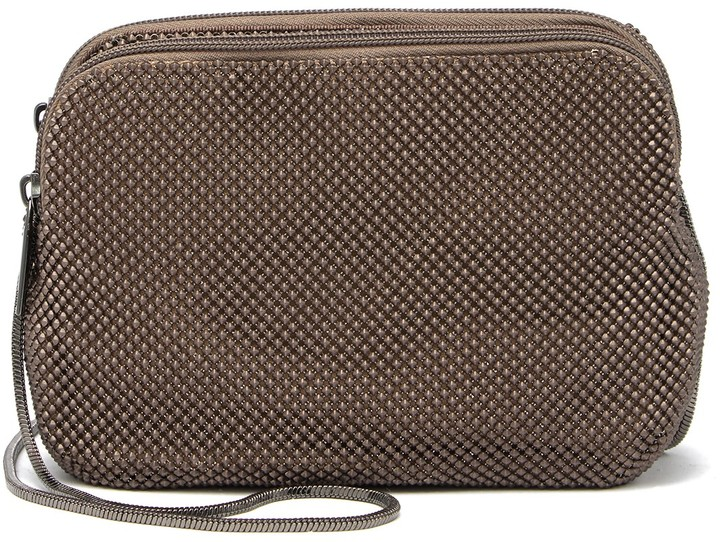 Whiting & Davis Metal Mesh Compartment Crossbody