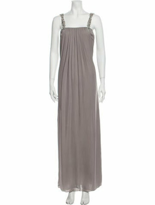Alice + Olivia Silk Long Dress w/ Tags Grey