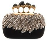 Alexander McQueen Stone Knuckle Leather Clutch
