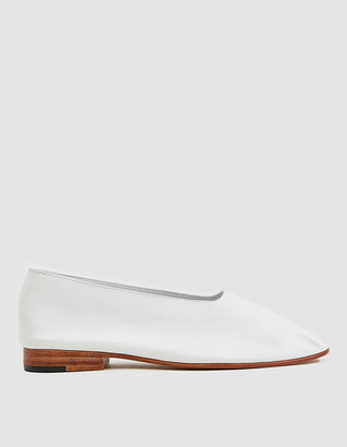 Martiniano Women's Glove Slip-On Shoes in White, Size 36 | Leather