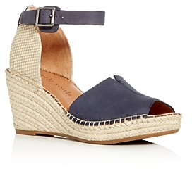 Gentle Souls by Kenneth Cole Gentle Souls Charli Nubuck Leather Ankle Strap Platform Wedge Sandals