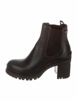 Prada Leather Chelsea Boots Black