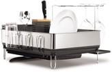 Simplehuman Brushed Steel & Grey Dish Rack/Wine Glass Holder