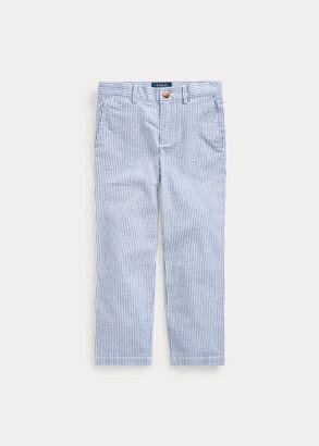 Ralph Lauren Stretch Seersucker Skinny Pant
