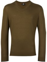 Paul Smith v neck fine knit jumper - men - Merino - S