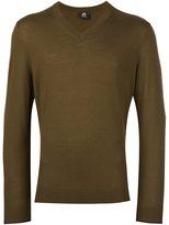 Paul Smith v neck fine knit jumper - men - Merino - S
