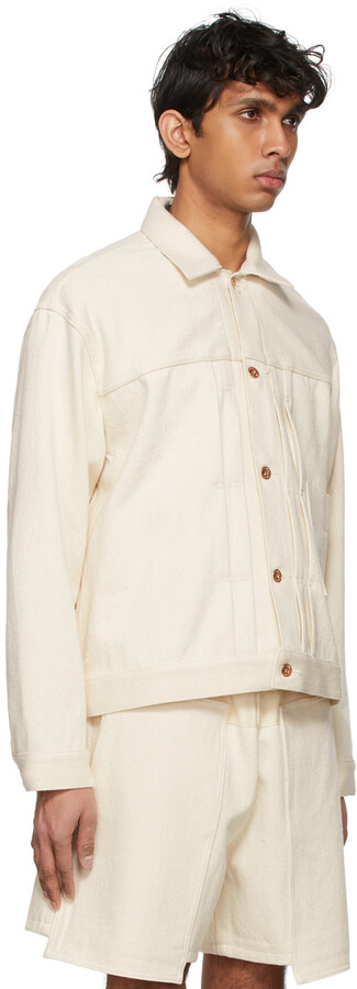 Thumbnail for your product : Kuro Off-White Denim Loose Big Jacket