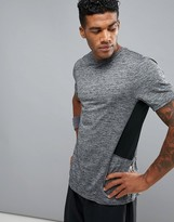 New Look Sport T-Shirt With Mesh Insert In Grey Marl