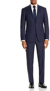 Canali Siena Tonal Plaid Classic Fit Suit
