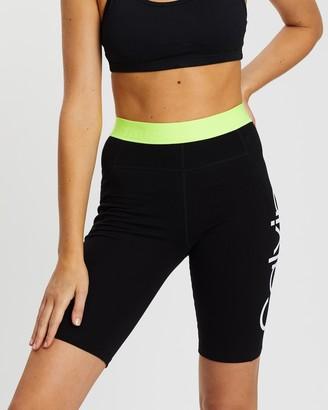 Calvin Klein Logo Jacquard Elastic High-Waist Bike Shorts