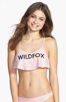 Wildfox Couture Logo Ruffle Bikini Top