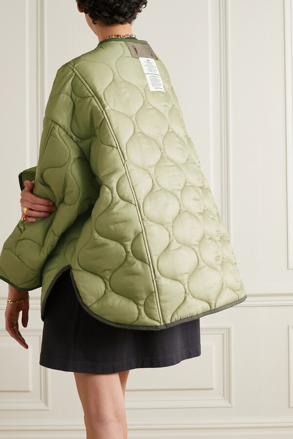 Thumbnail for your product : Frankie Shop Quilted Padded Ripstop Jacket - Green