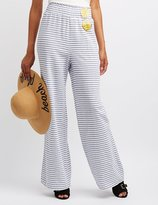 Charlotte Russe Striped Smocked Palazzo Pants