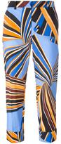 Emilio Pucci cropped printed trousers - women - Cotton/Spandex/Elastane/Acetate/Viscose - 40