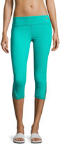 Trina Turk Recreation Strapped-Cuff Solid Performance Leggings