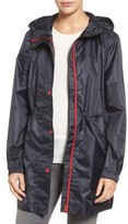 Joules Women's Right As Rain Packable Hooded Raincoat