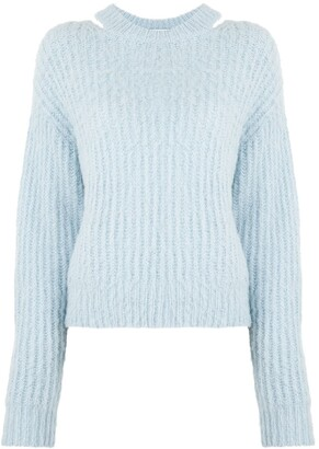 Proenza Schouler White Label Brushed Alpaca Sweater