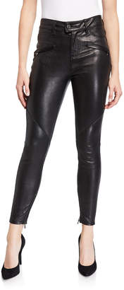 Etienne Marcel Stretch Leather Pull-On Pants
