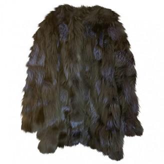 Blumarine Blue Fox Coat for Women