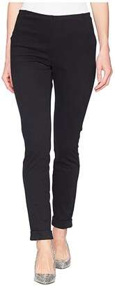 Tribal Stretch Twill 28 Pull-On Flatten Leggings with Cuff (Black) Women's Casual Pants